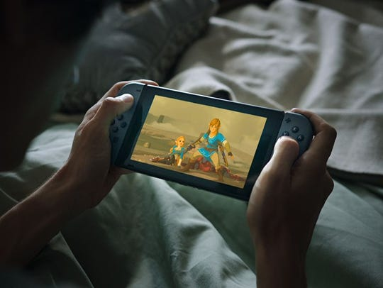 A screenshot of the Nintendo Switch in Handheld Mode.