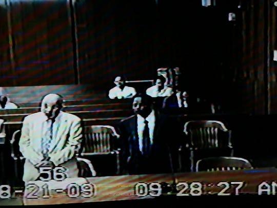 Dr. Gangaram Ragi appears before the court on April