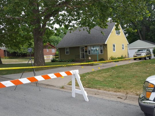 Police investigate a stabbing Saturday at a home on