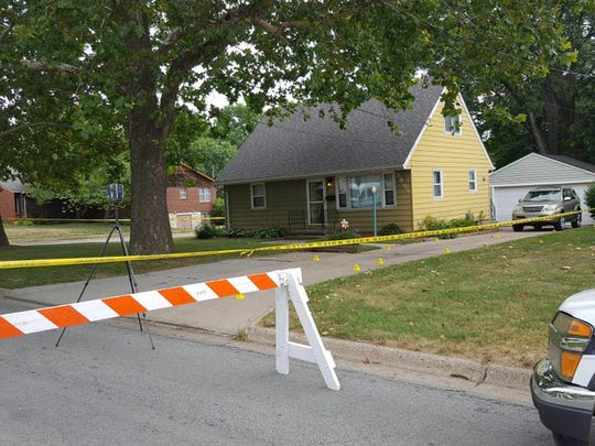 Police investigate a stabbing Saturday at a home on the 3900 block of 56th Street in Des Moines.