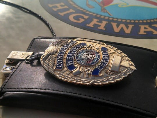 The concealed weapons permit badge
