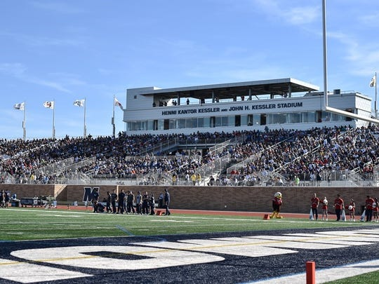 Kessler Stadium, Monmouth's new $16-million facility, plays host to a key Big South game Saturday when the Hawks host Presbyterian.