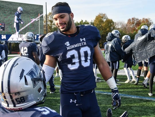 Monmouth safety Mike Basile was named co-Big South