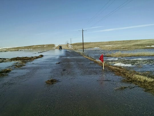Liberty School Road in Pondera County is among several