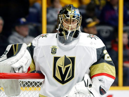 In this Jan. 16, 2018, file photo, Vegas Golden Knights