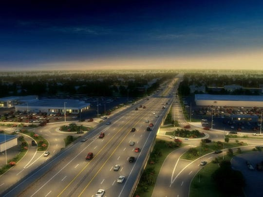 A roundabout is being built at 96th Street and Keystone