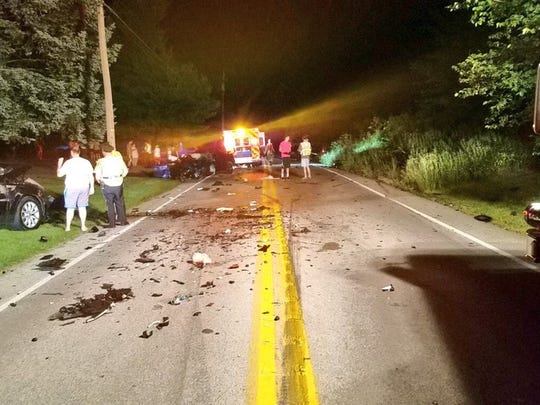 Three-vehicle crash caused two injuries in Paradise Township on Sunday, June 17.