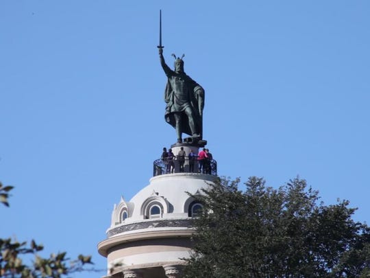 The Hermann monument in New Ulm, affectionately called