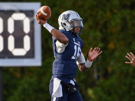 Monmouth quarterback Kenji Bahar led the Hawks to theri