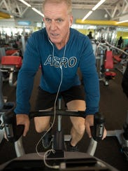 Paul Schroeder keeps his fitness level up with a visit to the Bear Levin Studer Family YMCA in downtown Pensacola on Thursday, Feb. 8, 2018.
