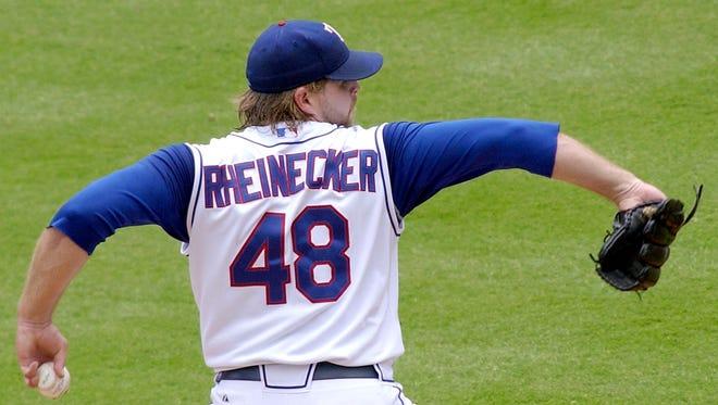 John Rheinecker in a 2006 game with the Texas Rangers.