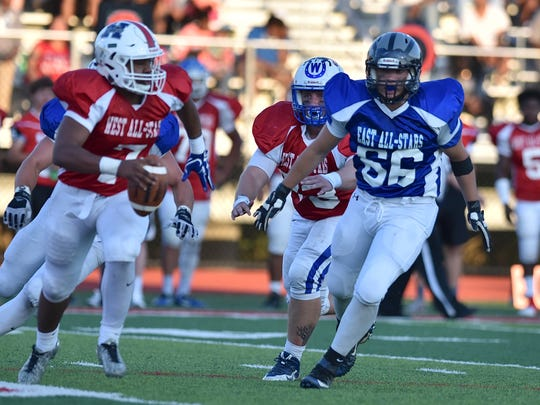 Amelia's Brant Fluehr tracks down West quarterback