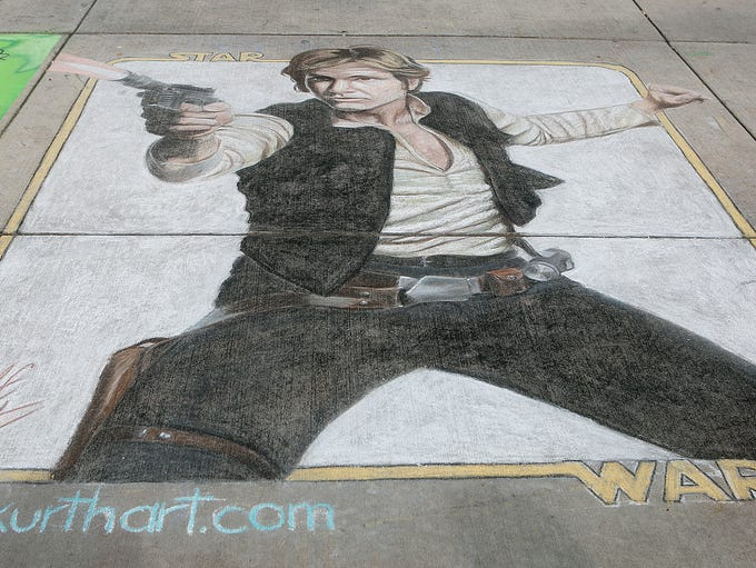 Leah Kurth's work 'Hans Solo' was one of Chalkfest's