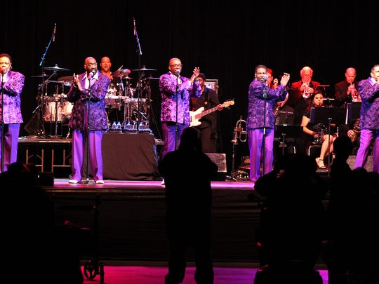 The Temptations thrill a full house during their first concert performance in San Angelo at Foster Communications Coliseum Thursday, May 4, 2017.