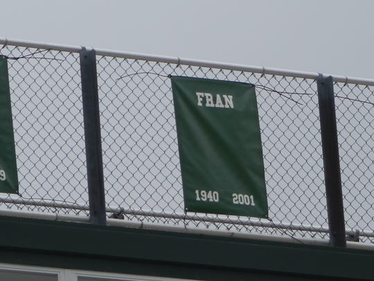 Farmington Harrison's football field already honors such school legends with banners of Ricky Bryant (1), Mill 'The Thrill' Coleman (6), Fran Herrington (coach Herrington's late wife), Drew Stanton (9) and John Miller (44).