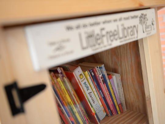 Little Free Library at Leuchter School in Vineland.