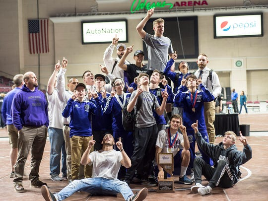 Spanish Springs won the state 4A wrestling title.