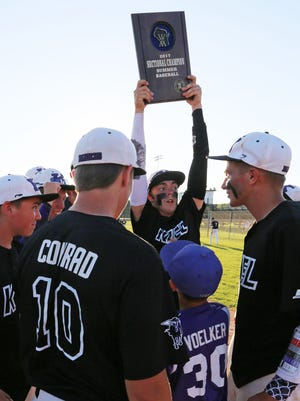 Kiel baseball players celebrate their sectional win over New Holstein last July. This season will be the last for summer baseball in the state as the remaining 50 teams will move to spring baseball.