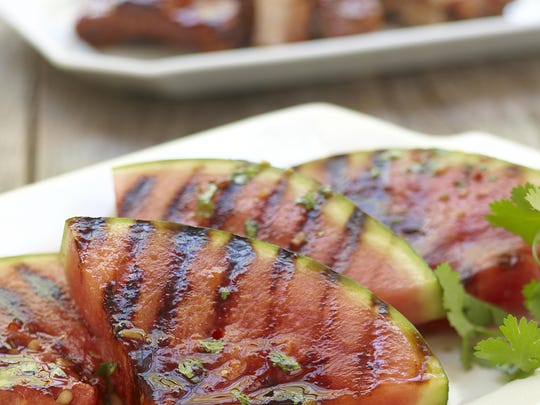 Grill watermelon right on the grates.