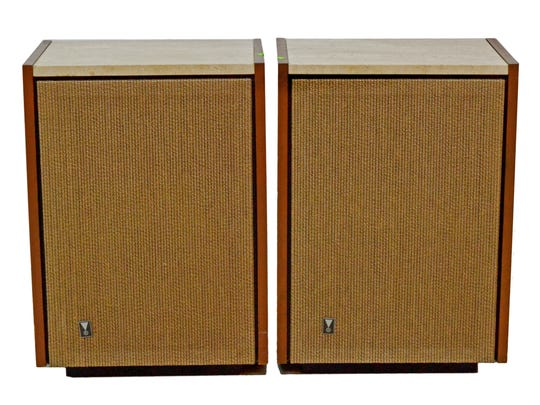 An old pair of Lansing speakers realized $750 at auction