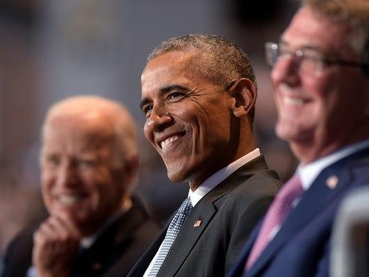Barack Obama, Joe Biden, Ash Carter