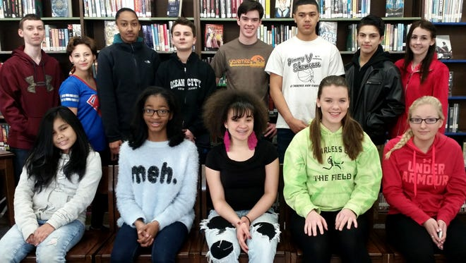 Some of the Students of the Month for March at Millville Memorial High School.