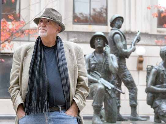 Vietnam veteran Michael Catalano stand by the Nashville