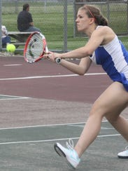 Redford Union's No. 1 singles player Abby Walters finished