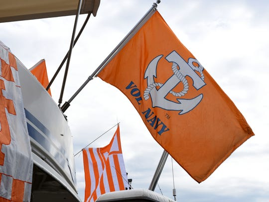 Members of the Vol Navy get ready in this Oct. 13, 2016, file photo for the Tennessee vs. Alabama game.