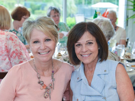 Angela Gardella and Ali Bullard at the St. Lucie West Garden Club's annual luncheon and fashion show  at The Legacy in Port St. Lucie's PGA Village.