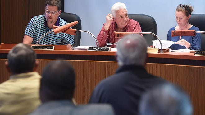 St. Landry Tax Commission members conduct an afternoon meeting Thursday at the Port Barre Towh Hall where they agreed to change the makeup of the board to include representatives from other local tax bodies that weren't included when the commission was first formed.