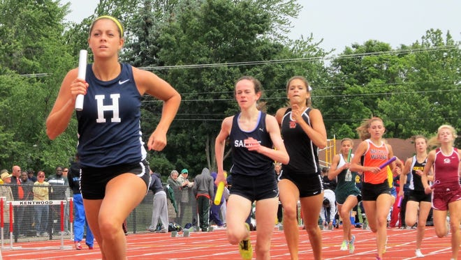Avery Evenson (left) made All-State twice in track and field at Hartland.
