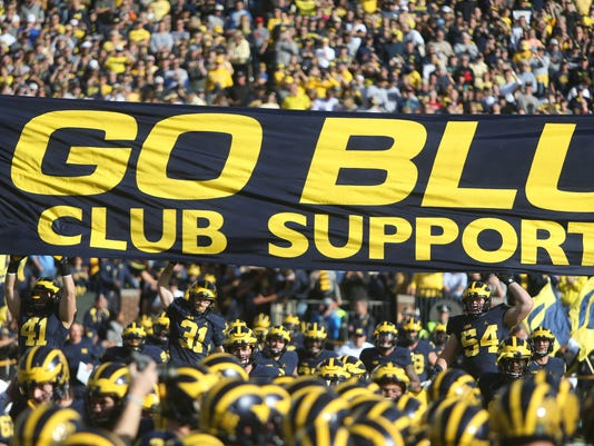 go blue banner, m club supports you