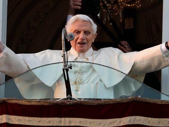 In this Feb. 28, 2013, file photo, Pope Benedict XVI