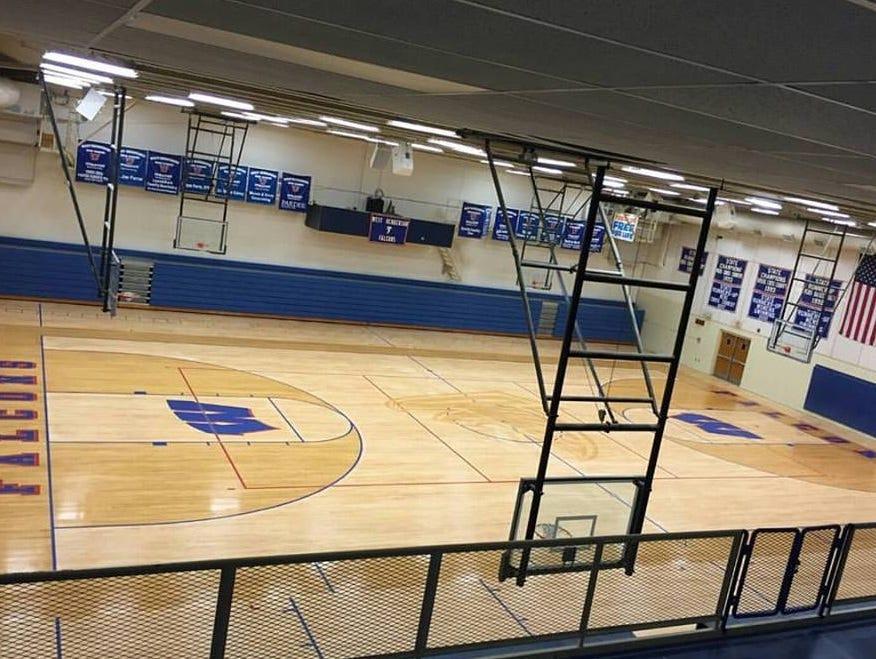 West Henderson's new gym floor.