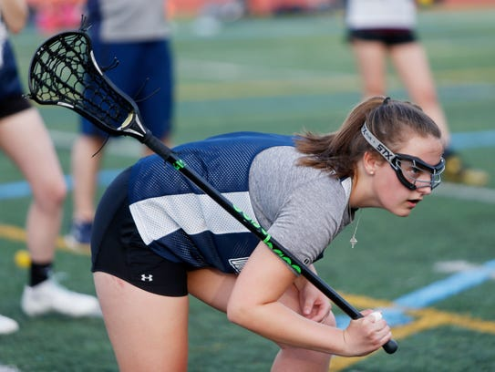 Lourdes girls lacrosse player, Colleen Shea during