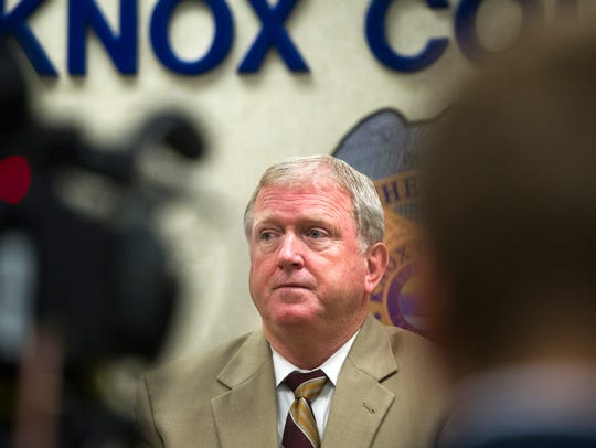 Major Mike MacLean speaks during a news conference
