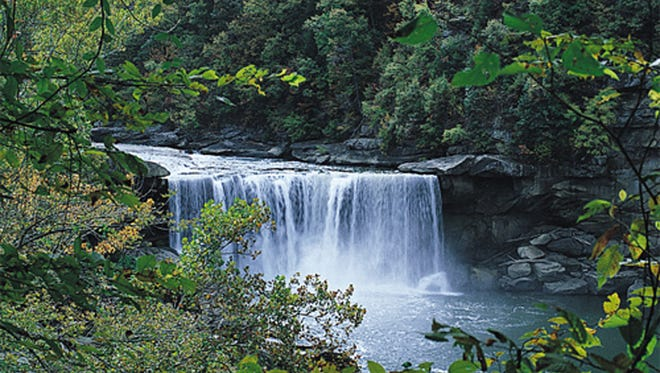 Cumberland Falls is the largest falls east of the Rockies, after Niagara Falls.