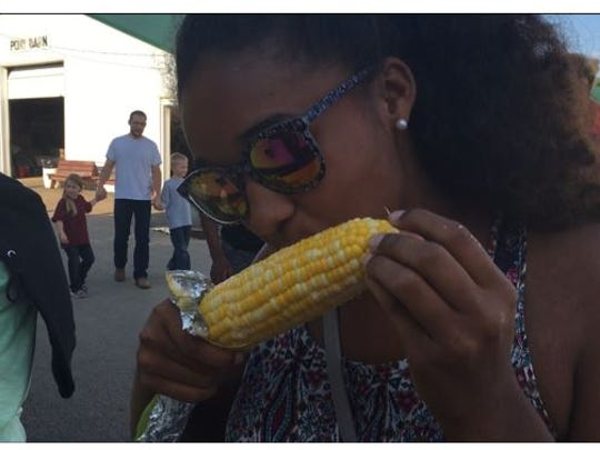 Adrianna Allen of Mansfield, said she was eating her second ear of corn on the cobb this week at the Richland County Fair.
