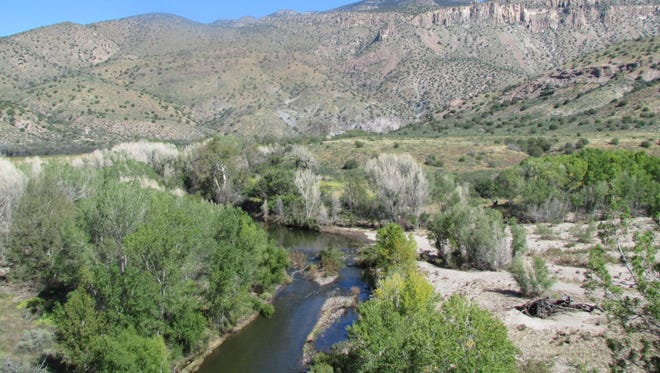 Gila River, downstream of the proposed diversion.