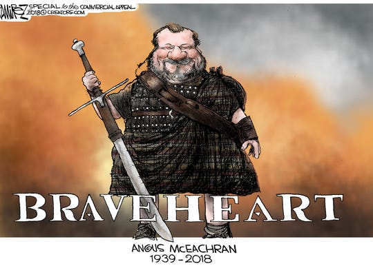 Tribute to Angus McEachran, by Pulitzer Prize-winning cartoonist Michael Ramirez