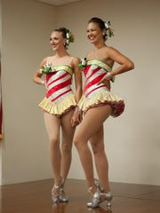 Rockettes, Megan Levinson and Christine Sienicki, at