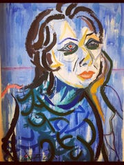 Fischer Galleries will feature self-portraits, like this one by YoYo, at the Art Lover's Soiree Thursday.