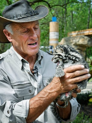 Jack Hanna was at the Nashville Zoo on Wednesday, May 2, 2018, showcasing clouded leopard cubs and the zoo in general.