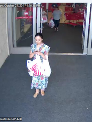 This is thought to be one of three suspects in in a scam in which an 80-year-old woman was scammed out of $4,000 worth of Target gift cards.