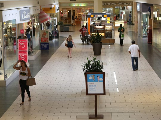 Shoppers at the Jefferson Valley Mall in Yorktown Heights,