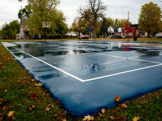 The City of Port Huron has resurfaced the basketball