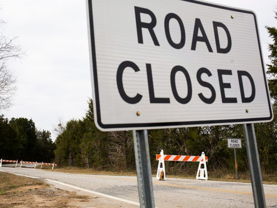 Former Anderson County Councilman Eddie Moore has erected road closure signs on Rhody Farm Road in Starr.