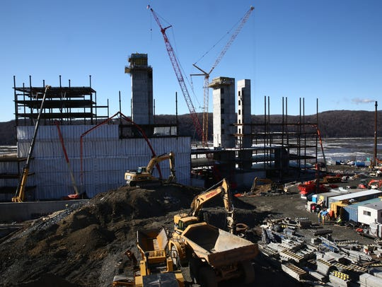 The construction site at Vassar Brothers Medical Center in the City of Poughkeepsie on Thursday, January 25, 2018.