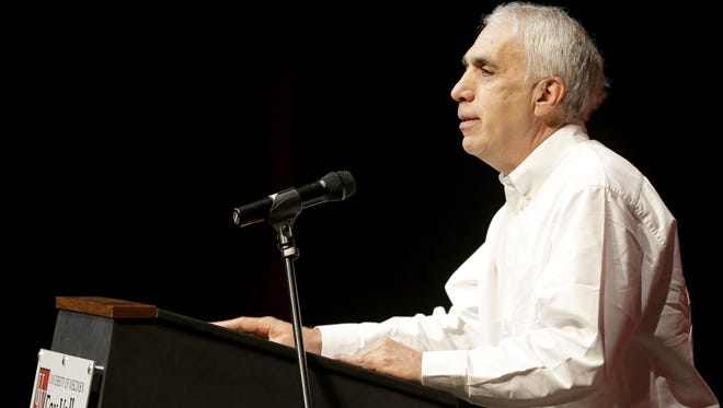 Author David Sheff spoke Monday about his son's battle with addiction during a visit to the Fox Cities Book Festival.